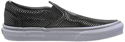 Femme Classic metallic Baskets Basses Ua Dots black Noir Vans Slip on Silver 1axYTSq