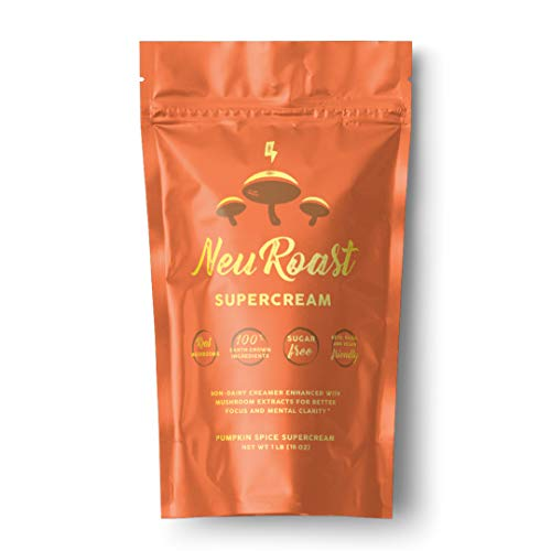 NeuRoast Pumpkin Spice Supercream - Dairy-Free Coffee Creamer | Keto, Paleo, Vegan-Friendly | Made with Lions Mane, Chaga, Cordyceps
