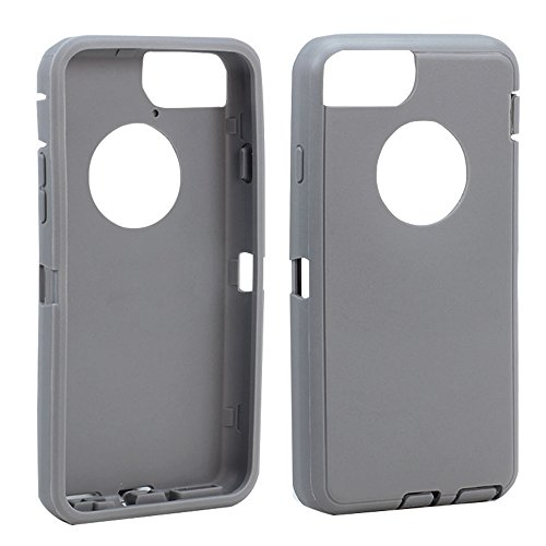 Apple iPhone 6 Plus 5.5 inch Replacement Generic Aftermarket TPE Silicone Skin for Otterbox Defender Series Case Cover For Apple iPhone 6 Plus 5.5 inch - Gray Outer Skin Only (Iphone Rubber Skin)