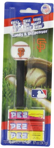 PEZ MLB San Francisco Giants, 0.87-Ounce Candy Dispensers (Pack of 12) (Pictures Of Pez Dispensers)