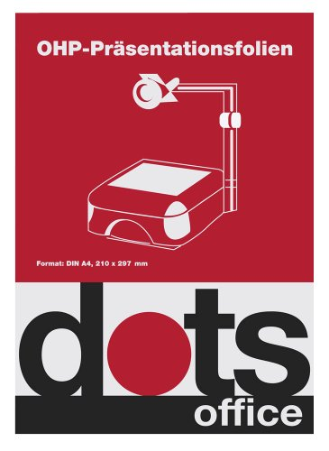 50 dots OHP-Folien für InkJet-Drucker / DIN A4 / 0,10 mm