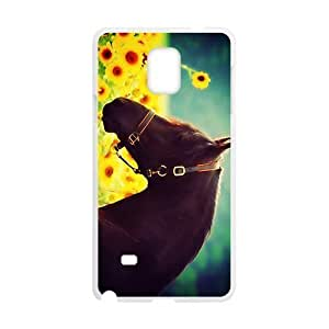 Brown Horse In Yellow Sunflower Sea Phone For SamSung Note 2 Case Cover