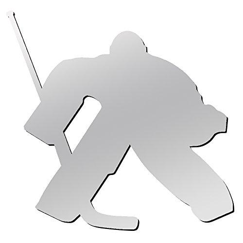 (A&R Sports Hockey Goalie Magnet & Decal, Chrome)