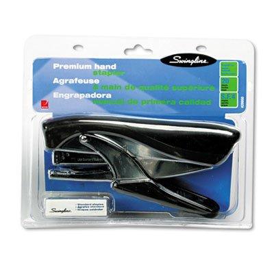 Premium Hand Stapler, Full Strip, 20-Sheet Capacity, Black/Chrome/Dark Gray, Sold as 1 Each