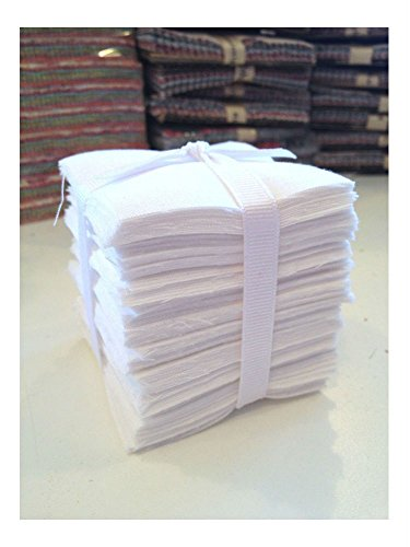 200 Pure White Moda Bella Solid precut mini charm pack 2.5