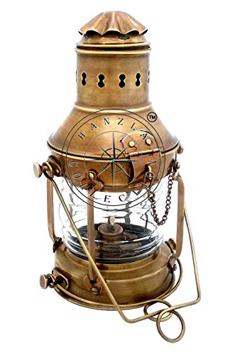 Hanzla Collection Vintage Brass Cargo Ship Lantern Railroad Oil Kerosene Burner Anchor Lamp