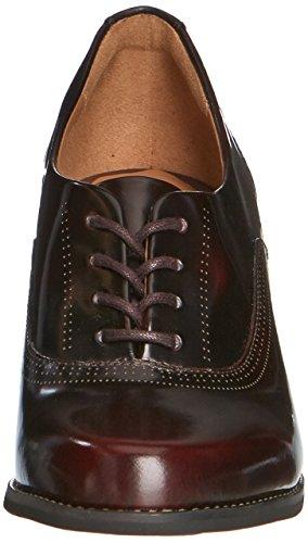 Clarks Tarah Victoria - zapatos de tacón cerrados de cuero mujer Rojo (Burgundy Leather)