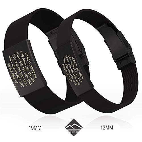 Road ID Bracelet - Official ID Wristband - Silicone Clasp Identification Bracelet and Sport ID for Athletes ()