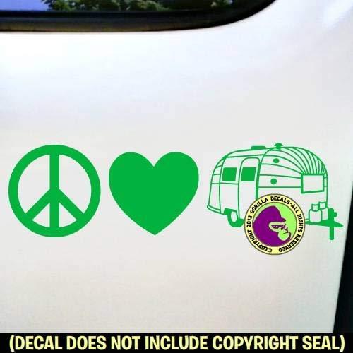 PEACE LOVE AIRSTREAM Vinyl Decal Sticker E