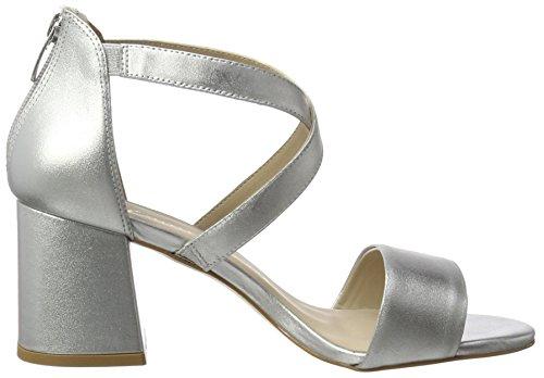 Bronx Bx 1254 Bjaggerx - Sandalias con cuña Mujer plateado (silver)