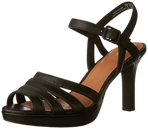 Clarks New Women's Mayra Poppy Sandal Black Leather 8.5 (Clarks Dress Sandals)