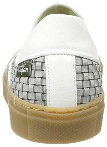 Jonny`s Vegan Delfina, Women's Low-Top Sneakers Mehrfarbig (Gris / Blanco)