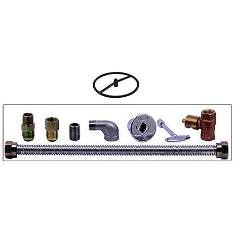 Spotix HPC Match Lit Fire Pit Burner Kit Round Cold Rolled Steel 12 Inch Burner Natural Gas Polished Chrome