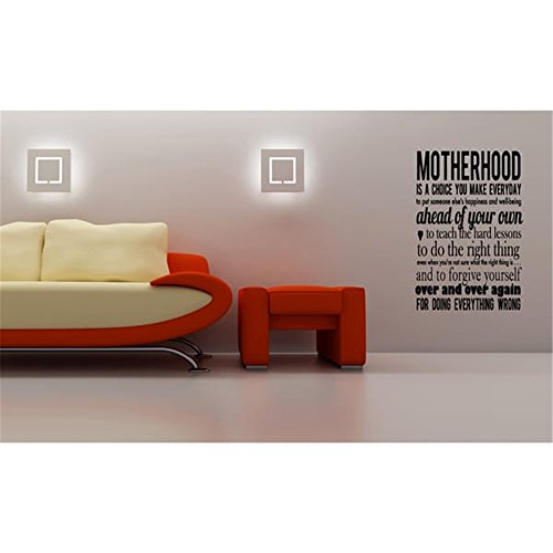 Wall Art Decor Decals Removable Mural Motherhood to Forgive Yourself Over and Over Again