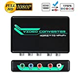 HDMI to 1080P Component Converter, avedio links HDMI to YPbPr 5RCA RGB + R/L Video Audio Adapter, Support Apple TV, PS3, Roku, Xbox, Fire Stick, DVD Players to HDTV and Projector