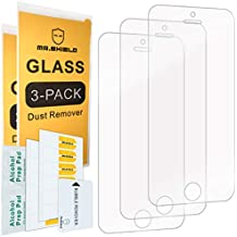 Mr Shield-[3-PACK] For iPhone SE / iPhone 5/5S / iPhone 5C [Tempered Glass] Screen Protector with Lifetime Replacement Warranty