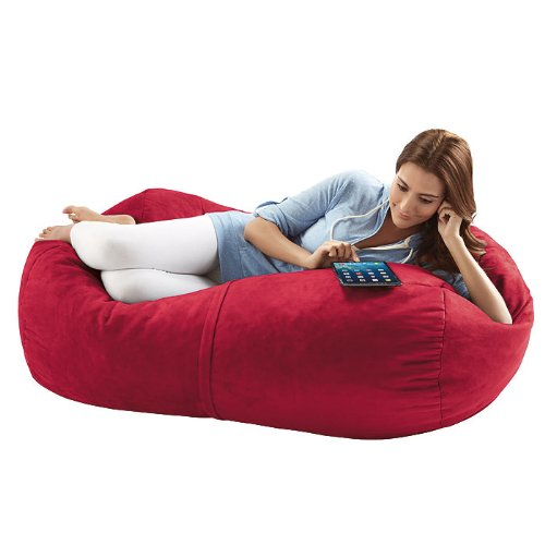 4-foot Bean Bag Lounger, Cherry