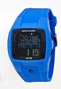 Rip Curl Trestles A1015 - Reloj de caballero de cuarzo, correa de caucho color azul claro