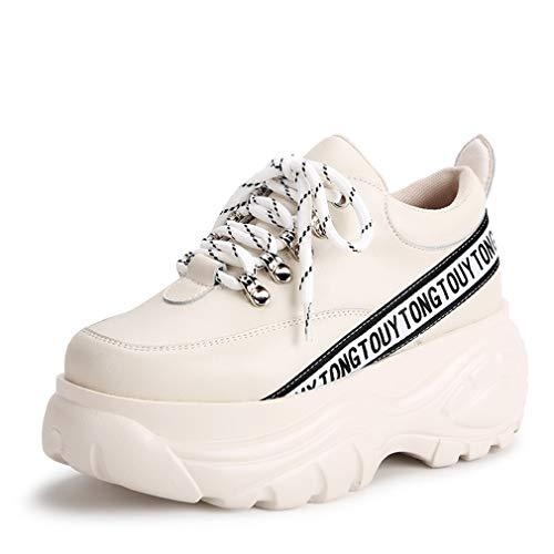 Stringate Casual Sneakers Microfibra Bianco autunno Piattaforma Yan Basse Alte Nero Scarpe Donna C Da Beige In Invisibili Primavera 5nzqv1