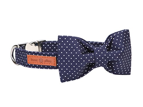 Lionet Paws Dog and Cat Collar with Bowtie,Soft and Comfortable,Adjustable Collar ()