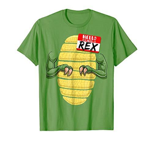 (My Name is Rex Halloween T Rex Dinosaur Costume Shirt)