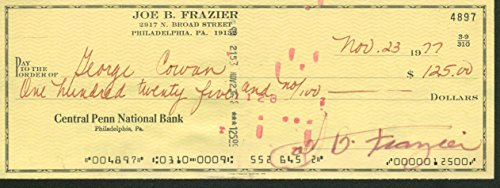 Joe Frazier Signed Autographed 1977 Bank Check JSA Authentic (Joe Frazier Autograph)