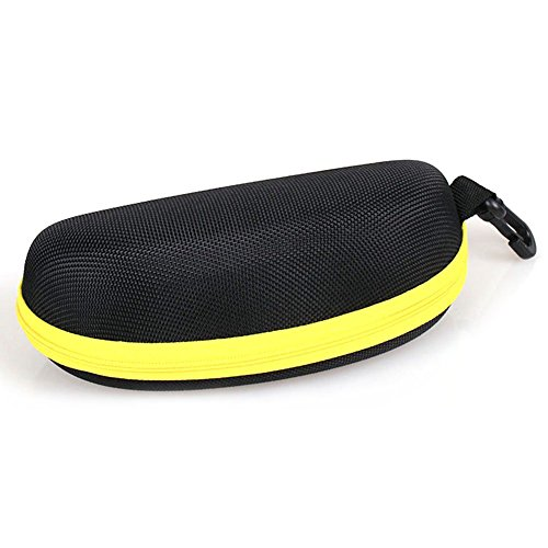 Hosaire Sunglasses Eyeglasses Case with Zipper Carabiner Hook Clip Hard Case Box Holder for Outdoor Traveling Use - Sun Art Glass Clip