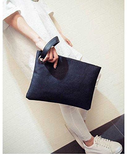 Money coming shop Money coming shop Fashion solid women's clutch bag leather women envelope bag clutch evening bag female Clutches Handbag Immediately shipping (Black) price tips cheap