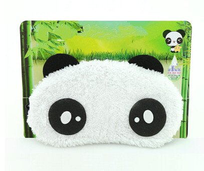 Cute cartoon sleeping eye mask, panda eye mask, can alleviate eye fatigue (style J)
