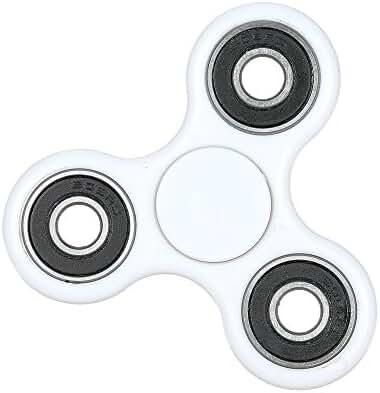 Tri Fidget Hand Spinner - fidget work Ultra Fast Bearings - Finger Toy, Great Gift(White)