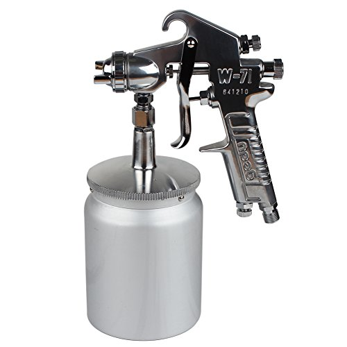 Siphon-Feed Air Spray Gun 0.6L (600cc) Cup Nozzle Size 1.3mm Sliver