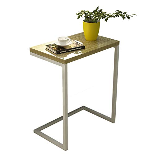 Aany Iron Side Table, Simple Living Room Bedroom Bedside Small Square Casual Coffee Table Home Creative Office Laptop Table Balcony Casual Early Tray Rack (Nesting Iron Tables Square)