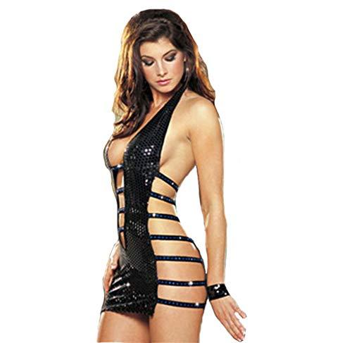Gonna Abito Donna Lingerie Sexy Cosplay Clubwear Vestito Cuoio Da Uniformi XSQR Body Ballo 8qZnHxSZ