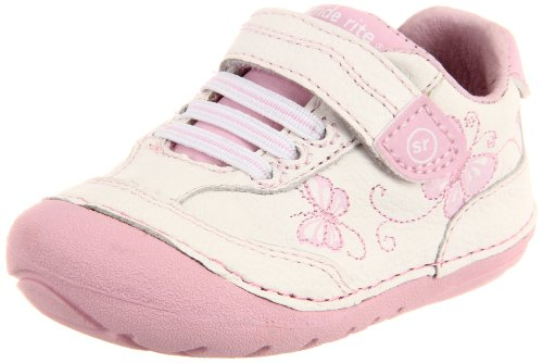 Stride Rite Soft Motion Bambi Sneaker (Infant/Toddler),White/Pink,3.5 M US Toddler