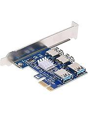 PCIE Riser Card 1 to 4 PCI-E Slots Converter Adatper PCIE Risers USB 3.0 GPU Riser