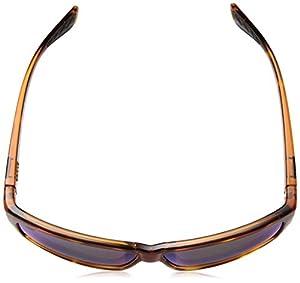 Costa del Mar Cut Polarized Iridium Square Sunglasses, Honey Tortoise, 60.6 mm
