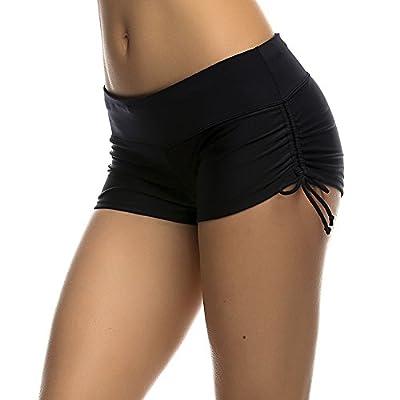 DUSISHIDAN Women's Swim Shorts with Side Ties: Clothing