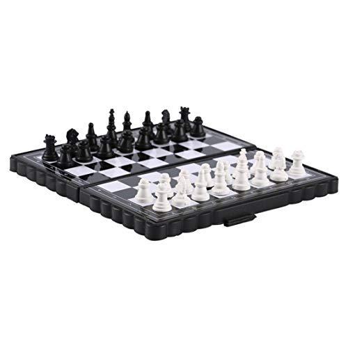 Dynamovolition 1 Unidades Mini Tablero de ajedrez de plástico magnético Plegable Juego de Mesa de ajedrez Juguete…