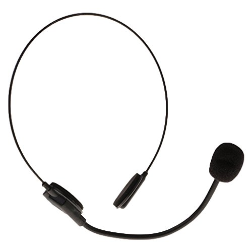 Homyl Fashion Black Mic Microphone Headset Toy Halloween Party Costume Prop Gift ()