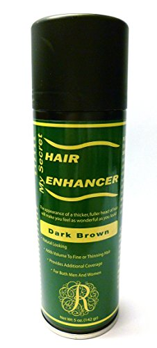 Hair Enhancer - My Secret Correctives Hair Enhancer Spray for Fine/Thinning Hair -5 oz - DARK BROWN