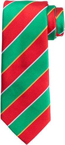 KissTies St. Patrick's Day Green Tie Stripes Necktie + Gift Box ()