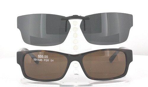 KIRKLAND-SIGNATURE HAVANA-591545-54X16 POLARIZED CLIP-ON SUNGLASSES (Frame NOT - Sunglasses Kirkland Polarized