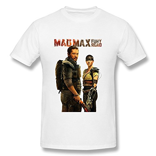 Mad Max Thunderdome Costume (AOPO Mad Max 4 Fury Road O-Neck Tee Shirts For Men Medium White)