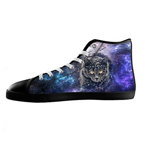 Men's High Chaussures Up C Lace De Sneakers Sport Canvas Top Custom Shoes Toile Cartoon Chat Pour 8WBwxqcXAE