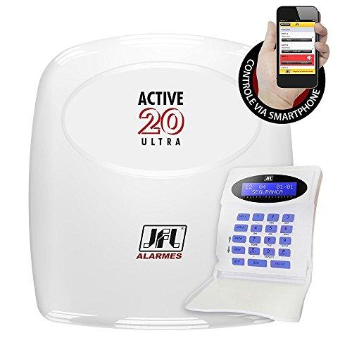 Central Alarme Active 20 Monitorável Ultra + Teclado Lcd JFL