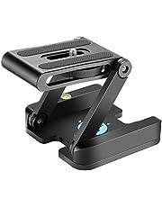 Neewer Z Flex Tilt Testa a Sfera con Piastra Quick Shoe QR Staffa per Telecamera Lega di Alluminio con Livella a Bolla per Videocamera Canon Nikon Sony Treppiede Guida a Scorrimento