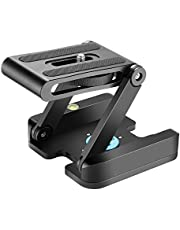 Neewer Z Flex Tilt Ball Head with Quick Shoe QR Plate Bracket for Camera Aluminium Alloy with Bubble Level for Canon Nikon Sony Camcorder Tripod Guide Slide