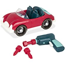 Battat – Take-Apart Roadster Car – Toy vehicle assembly playset with functional battery-powered drill - Early childhood developmental skills toy for kids aged 3 and up