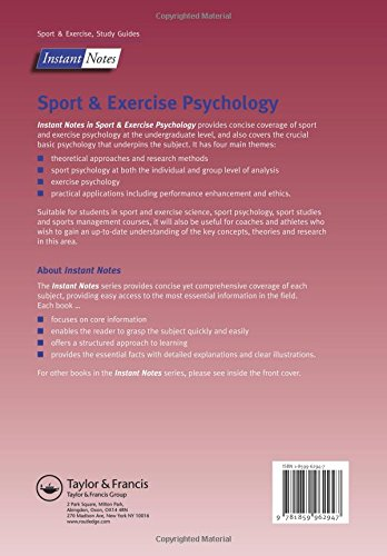 Instant Notes Sport and Exercise Psychology: Amazon co uk: D