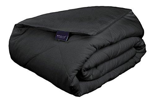 Brielle Flannel Comforter Cotton Charcoal